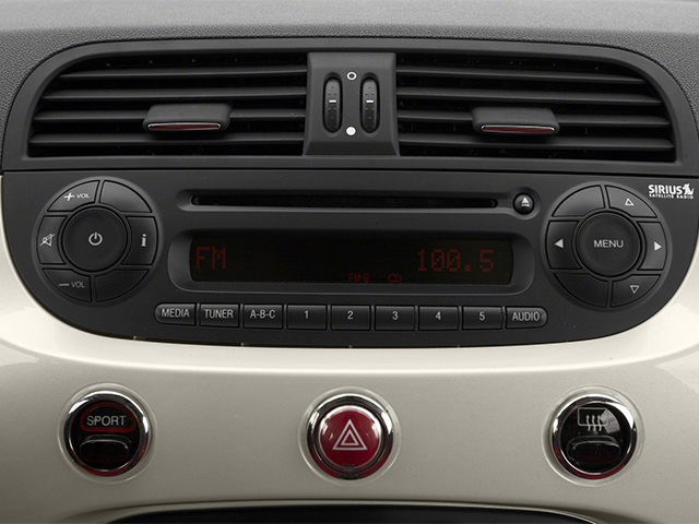 2014 FIAT 500c Prices and Values Convertible 2D Lounge I4 stereo system