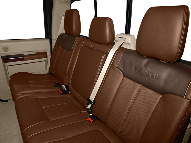 2014 Ford Super Duty F-350 DRW Prices and Values Crew Cab King Ranch 4WD backseat interior