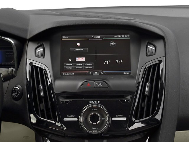 2014 Ford Focus Electric Prices and Values Hatchback 5D Electric stereo system