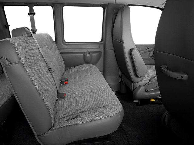 2014 GMC Savana Passenger Prices and Values Savana LS 135  backseat interior