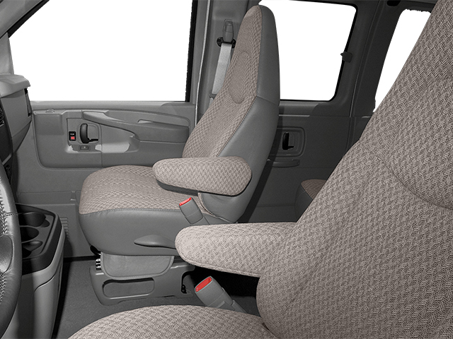 2014 GMC Savana Passenger Prices and Values Extended Savana LS 155  front seat interior