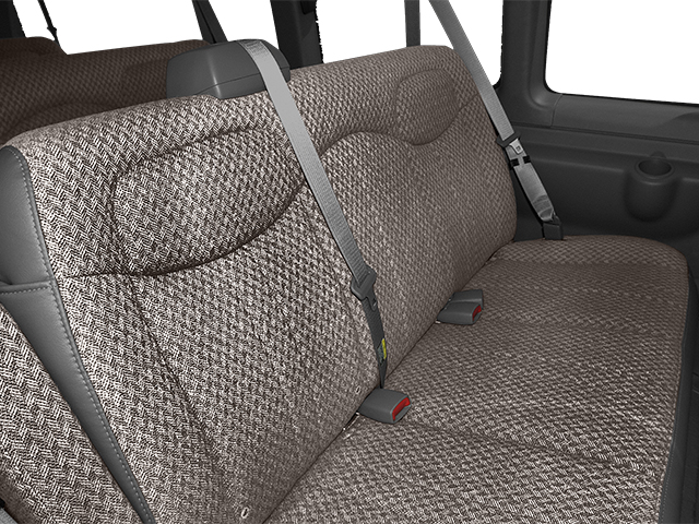 2014 GMC Savana Passenger Prices and Values Extended Savana LS 155  backseat interior
