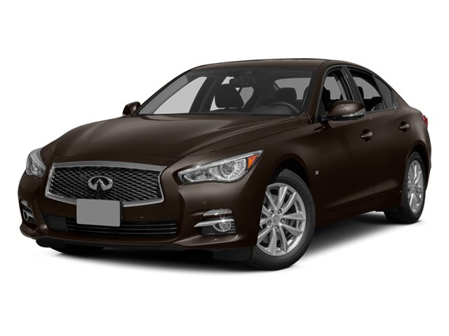 2014 INFINITI Q50 Prices and Values Sedan 4D Premium V6 side front view
