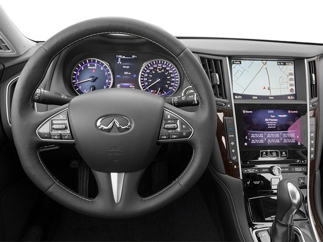 2014 INFINITI Q50 Prices and Values Sedan 4D Premium V6 driver's dashboard
