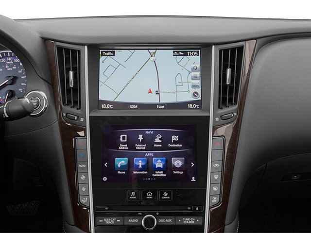 2014 INFINITI Q50 Pictures Q50 Sedan 4D Premium V6 photos navigation system