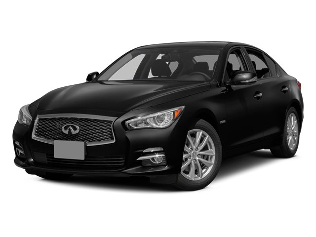 2014 INFINITI Q50 Pictures Q50 Sedan 4D Premium V6 Hybrid photos side front view