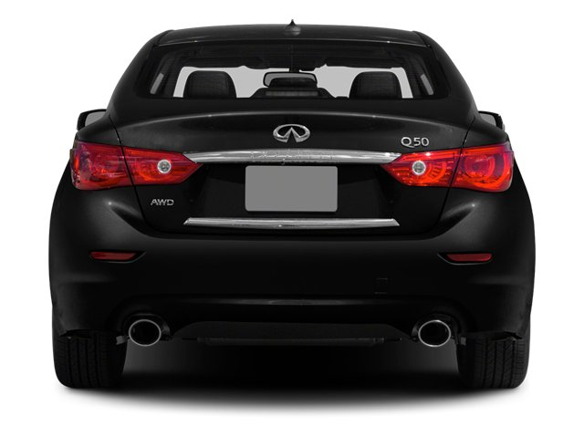 2014 INFINITI Q50 Pictures Q50 Sedan 4D Premium V6 Hybrid photos rear view