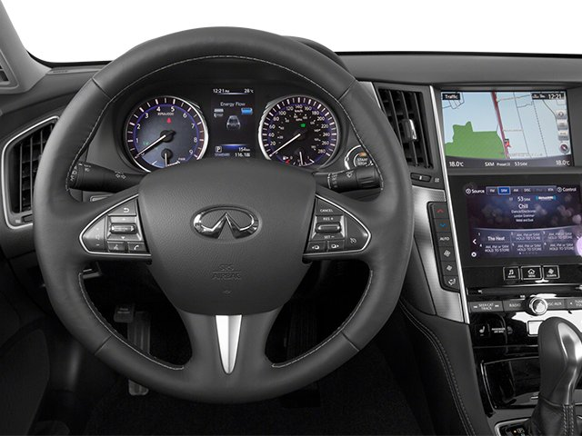 2014 INFINITI Q50 Pictures Q50 Sedan 4D Premium V6 Hybrid photos driver's dashboard
