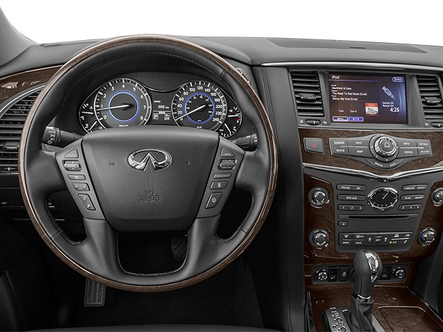 2014 INFINITI QX80 Prices and Values Utility 4D AWD V8 driver's dashboard