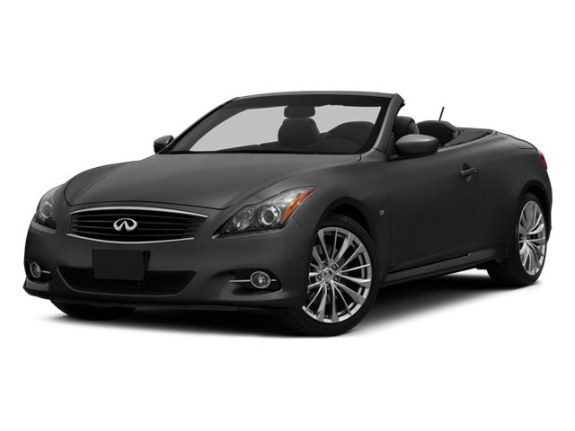 2014 INFINITI Q60 Convertible Prices and Values Convertible 2D Sport V6 side front view