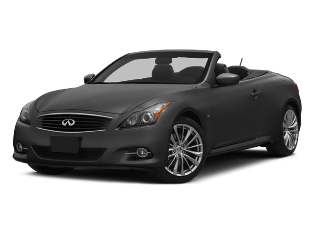 2014 INFINITI Q60 Convertible Prices and Values Convertible 2D V6 side front view