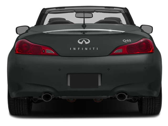 2014 INFINITI Q60 Convertible Prices and Values Convertible 2D Sport V6 rear view