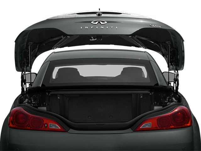2014 INFINITI Q60 Convertible Prices and Values Convertible 2D V6 open trunk