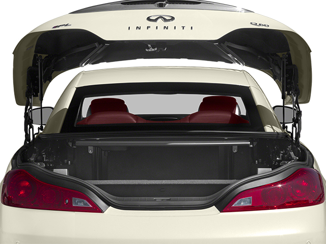 2014 INFINITI Q60 Convertible Prices and Values Convertible 2D IPL V6 open trunk