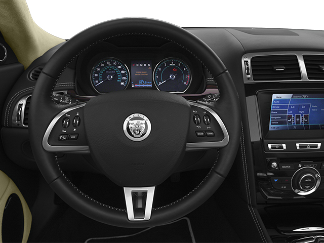 2014 Jaguar XK Prices and Values Convertible 2D V8 driver's dashboard