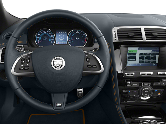 2014 Jaguar XK Prices and Values Convertible 2D XKR V8 Supercharged driver's dashboard