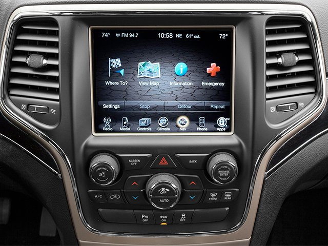 2014 Jeep Grand Cherokee Prices and Values Utility 4D Overland Diesel 4WD stereo system