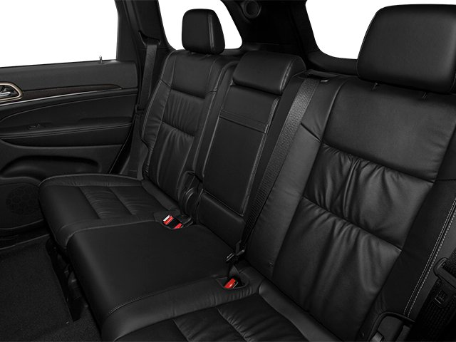 2014 Jeep Grand Cherokee Prices and Values Utility 4D Overland Diesel 4WD backseat interior