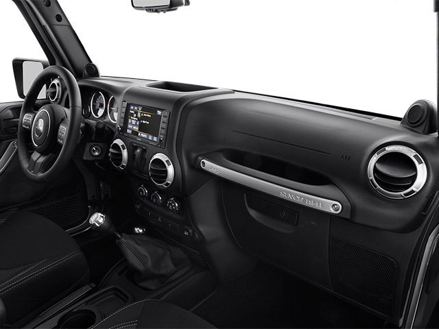 2014 Jeep Wrangler Prices and Values Utility 2D Altitude 4WD V6 passenger's dashboard