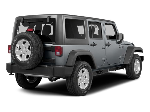 2014 Jeep Wrangler Unlimited Prices and Values Utility 4D Unlimited Sahara 4WD V6 side rear view