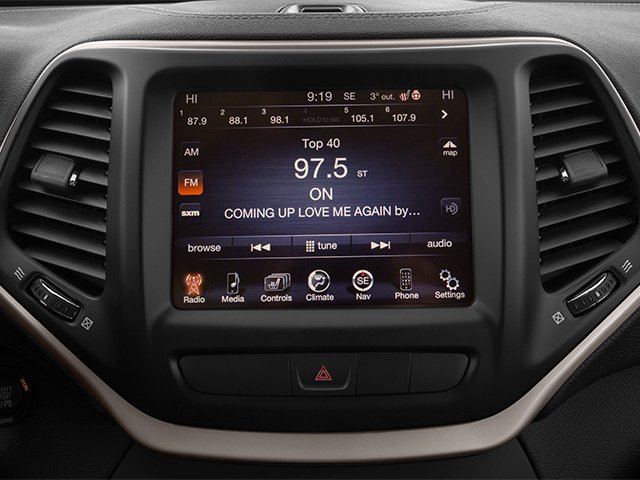 2014 Jeep Cherokee Prices and Values Utility 4D Altitude 4WD stereo system