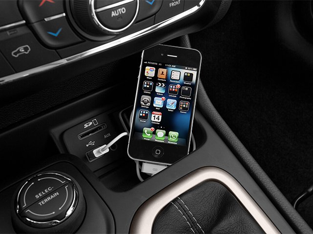 2014 Jeep Cherokee Prices and Values Utility 4D Altitude 4WD iPhone Interface