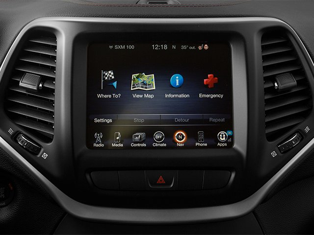 2014 Jeep Cherokee Prices and Values Utility 4D Trailhawk 4WD stereo system
