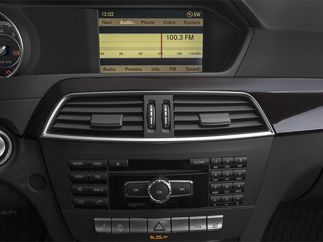 2014 Mercedes-Benz C-Class Prices and Values Sport Sedan 4D C63 AMG stereo system