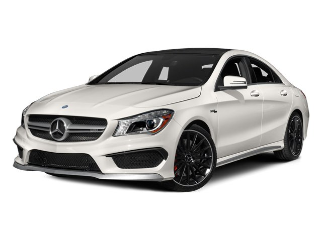 2014 Mercedes-Benz CLA-Class Pictures CLA-Class Sedan 4D CLA45 AMG AWD I4 Turbo photos side front view