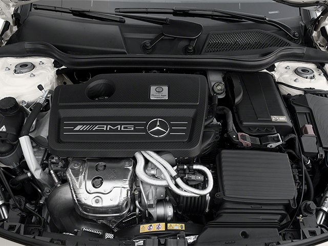 2014 Mercedes-Benz CLA-Class Pictures CLA-Class Sedan 4D CLA45 AMG AWD I4 Turbo photos engine