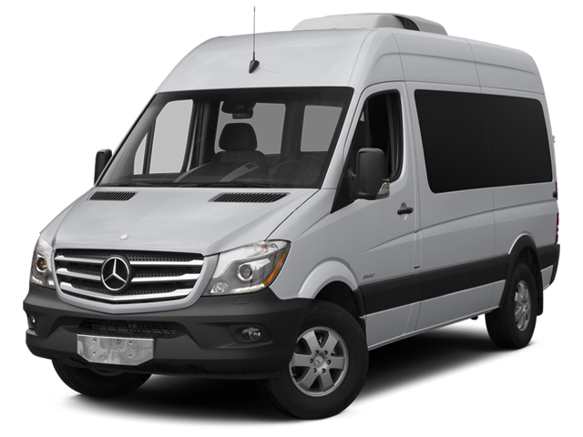 2014 Mercedes-Benz Sprinter Passenger Vans Prices and Values Passenger Van High Roof side front view
