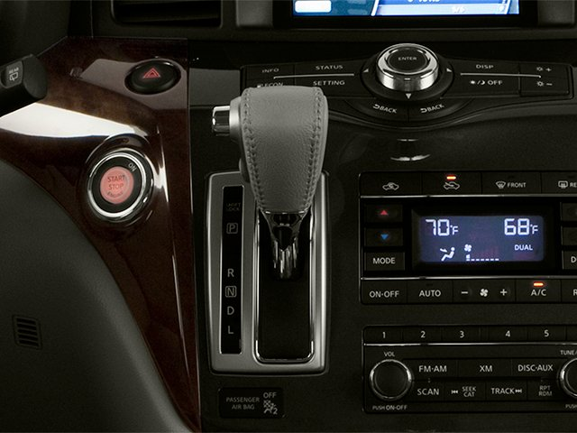 2014 Nissan Quest Prices and Values Van SL 3.5 V6 center console