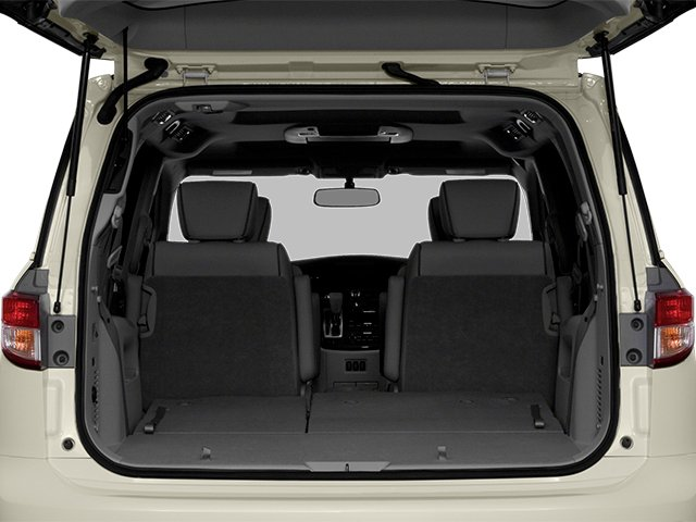 2014 Nissan Quest Prices and Values Van SL 3.5 V6 open trunk