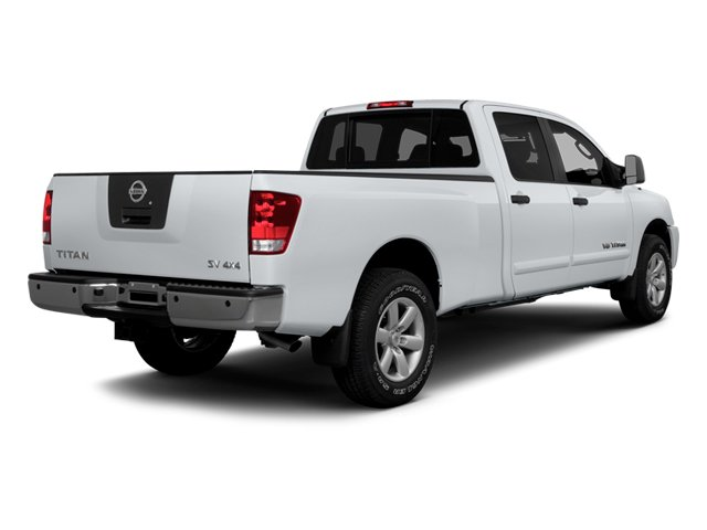 2014 Nissan Titan Prices and Values Crew Cab SV 4WD side rear view