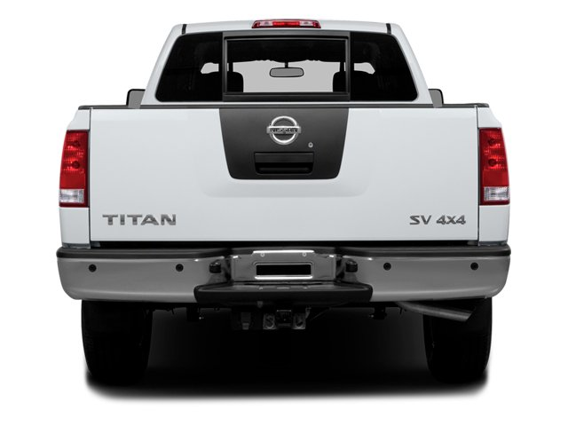 2014 Nissan Titan Prices and Values Crew Cab SV 4WD rear view