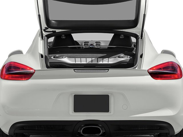 2014 Porsche Cayman Prices and Values Coupe 2D H6 open trunk