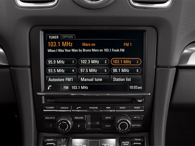 2014 Porsche Cayman Prices and Values Coupe 2D S H6 stereo system