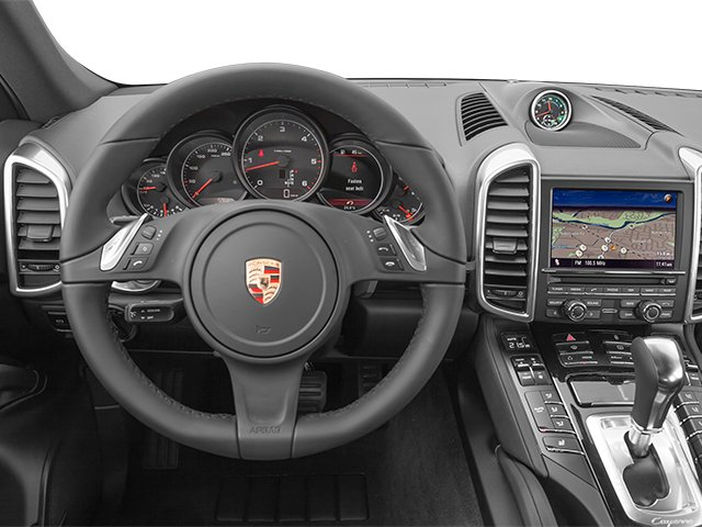 2014 Porsche Cayenne Prices and Values Utility 4D Platinum AWD V6 T-Diesel driver's dashboard