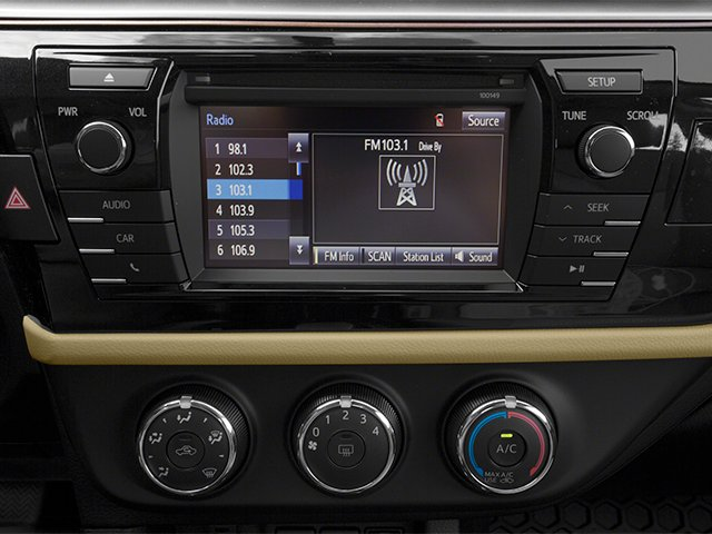 2014 Toyota Corolla Prices and Values Sedan 4D L I4 stereo system