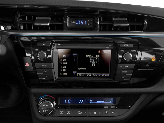 2014 Toyota Corolla Pictures Corolla Sedan 4D S I4 photos stereo system
