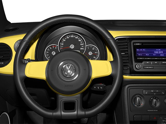 2014 Volkswagen Beetle Coupe Prices and Values Coupe 2D TDI I4 driver's dashboard
