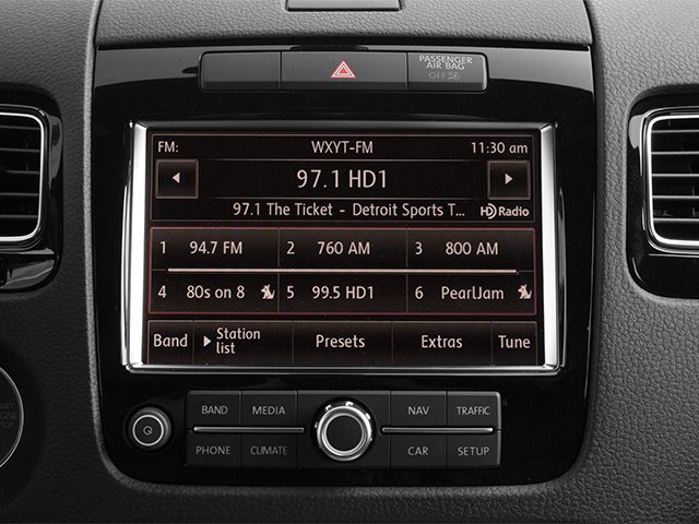 2014 Volkswagen Touareg Prices and Values Utility 4D R-Line AWD V6 stereo system