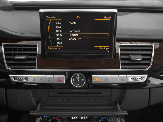2015 Audi A8 L Prices and Values Sedan 4D 3.0T L AWD V6 Turbo stereo system