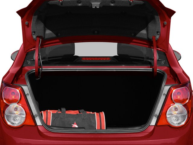 2015 Chevrolet Sonic Prices and Values Sedan 4D LS I4 open trunk