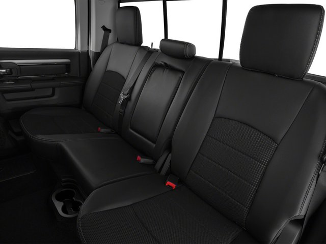 2015 Ram Truck 1500 Prices and Values Crew Cab Longhorn 2WD backseat interior