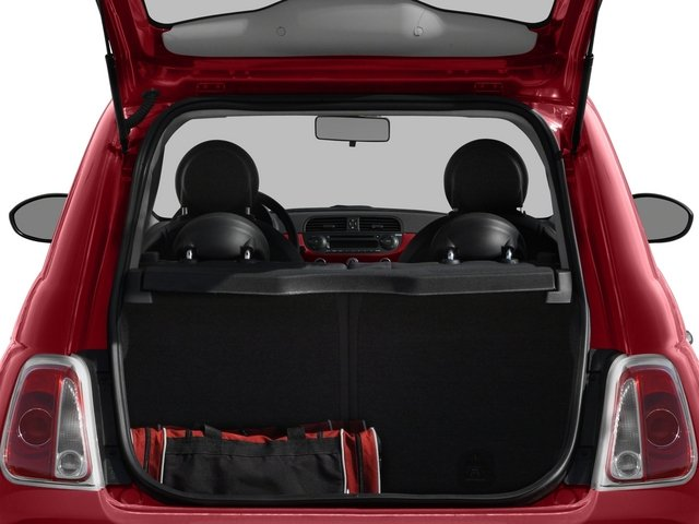 2015 FIAT 500 Pictures 500 Hatchback 3D Sport I4 photos open trunk