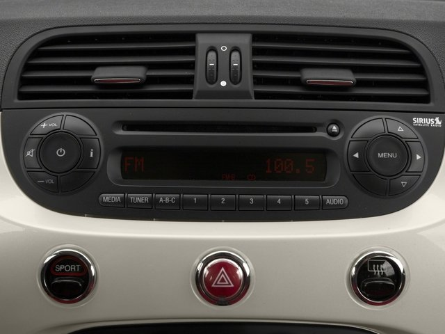 2015 FIAT 500c Pictures 500c Convertible 2D Lounge I4 photos stereo system
