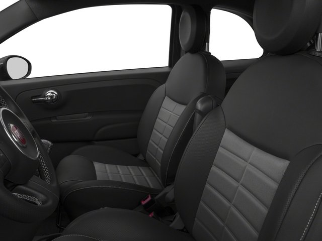 2015 FIAT 500 Prices and Values Hatchback 3D I4 Turbo front seat interior