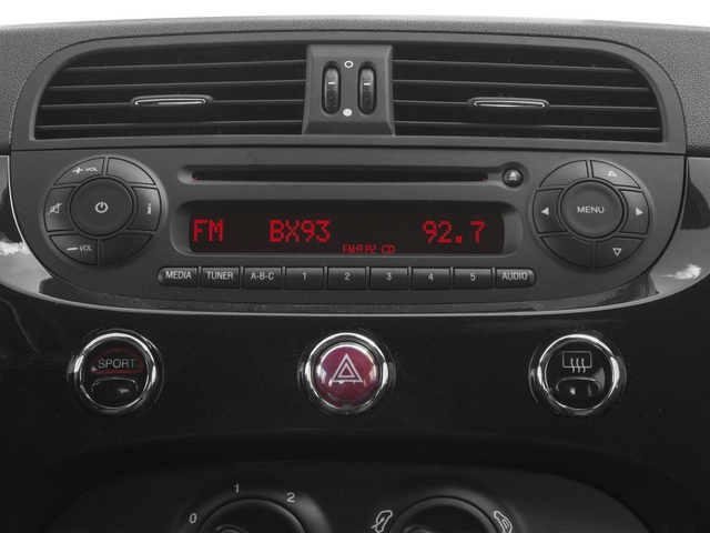 2015 FIAT 500 Prices and Values Hatchback 3D I4 Turbo stereo system