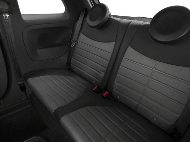 2015 FIAT 500 Prices and Values Hatchback 3D I4 Turbo backseat interior
